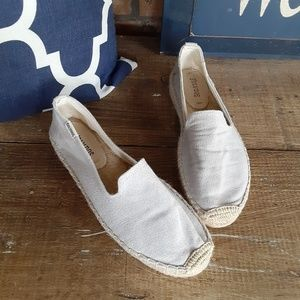 Soludos 1 inch Gray Platforms Shoes